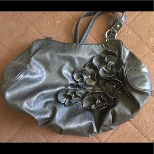 Black Faux Leather Nine and Co Purse